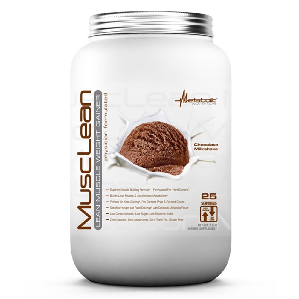 Metabolic Nutrition MuscLean 2.5 Lbs Protein Metabolic Nutrition Chocolate Milkshake  (1059220193323)