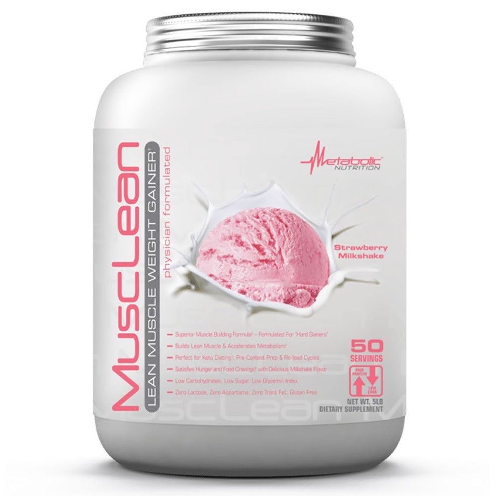 Metabolic Nutrition MuscLean 5 Lbs Protein Metabolic Nutrition Strawberry Milkshake  (1059220455467)