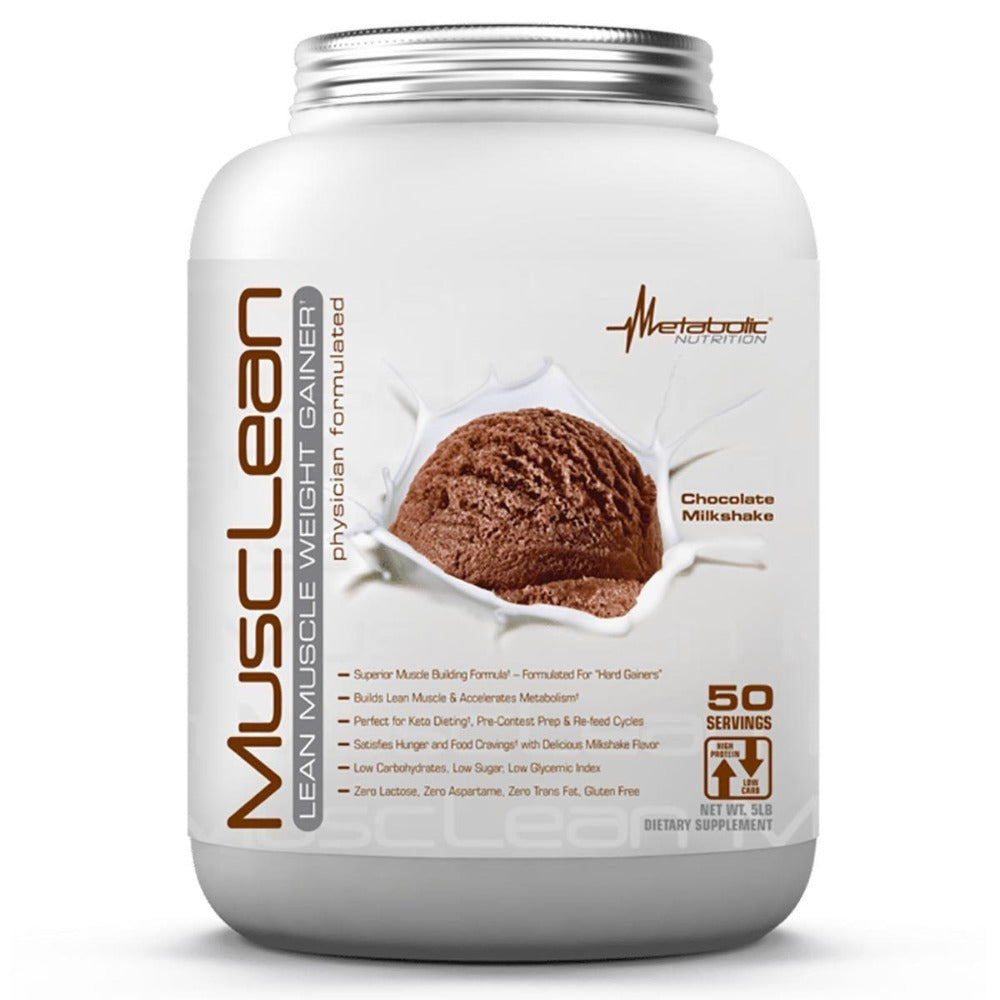 Metabolic Nutrition MuscLean 5 Lbs Protein Metabolic Nutrition Chocolate Milkshake  (1059220455467)