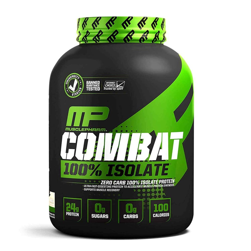 Muscle Pharm Combat 100% Isolate 5lb Protein Powders Muscle Pharm Vanilla Ice Cream  (1694279893035)