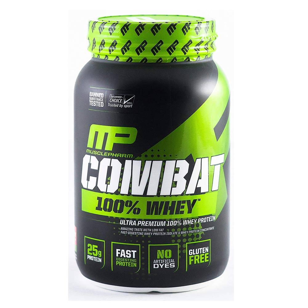 MuslcePharm Combat 100% Whey 2lb Protein Powders Muscle Pharm Strawberry  (1694436261931)