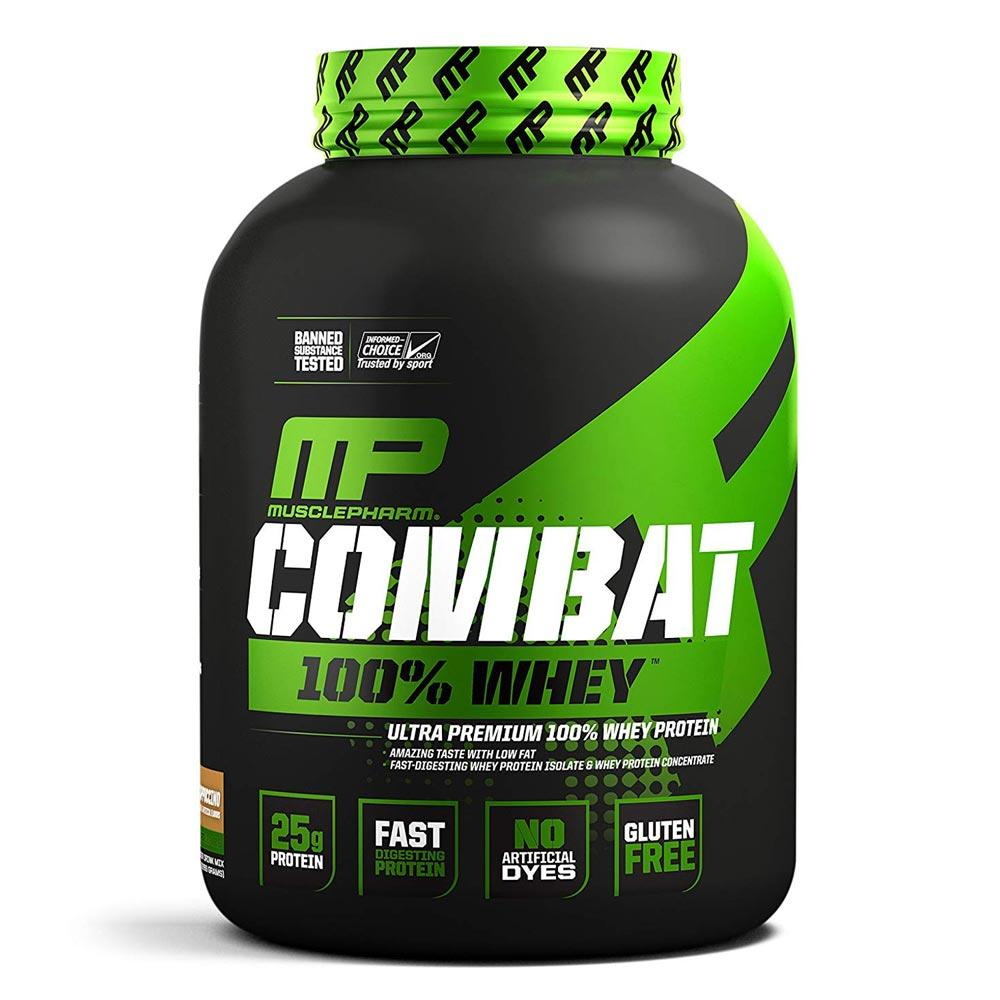 MusclePharm Combat 100% Whey 5lb Protein Powders Muscle Pharm Cappuccino  (1694428233771)