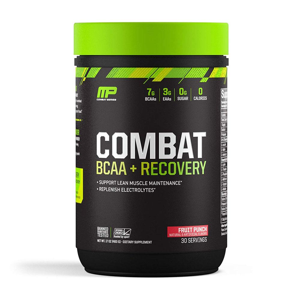 MusclePharm Combat BCAA + Recovery 30 Servings Amino Acids Muscle Pharm Fruit Punch  (1697226457131)