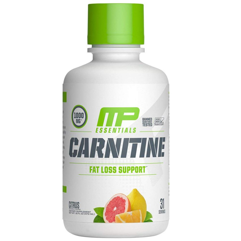 MusclePharm Carnitine 31 Servings Fat Burner Muscle Pharm Citrus  (1693490380843)