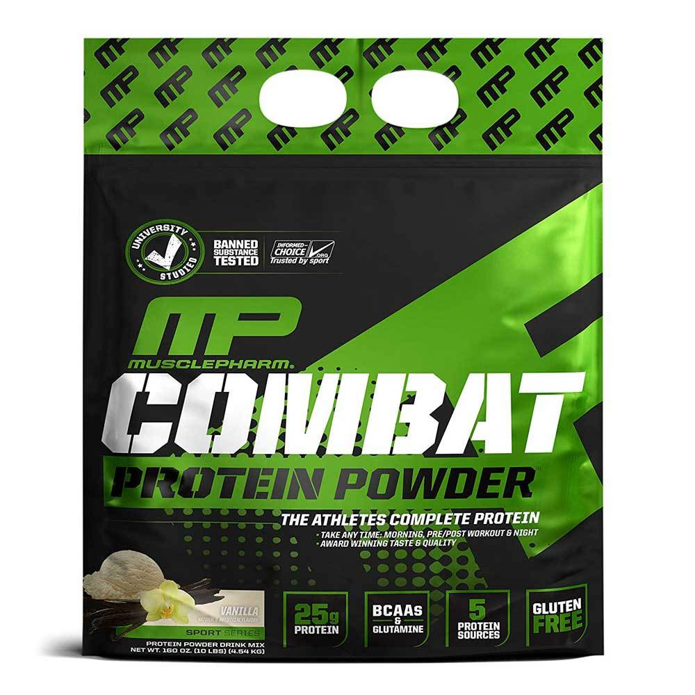 MusclePharm Combat Protein Powder 10lb Vanilla Protein Powders Muscle Pharm  (1697274495019)