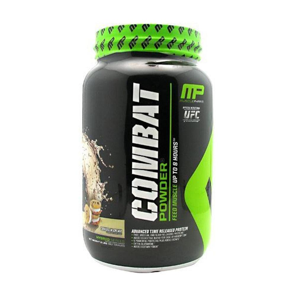 Muscle Pharm Combat Protein Powder 2lb Protein Powders Muscle Pharm Cookies N Cream  (1694276976683)