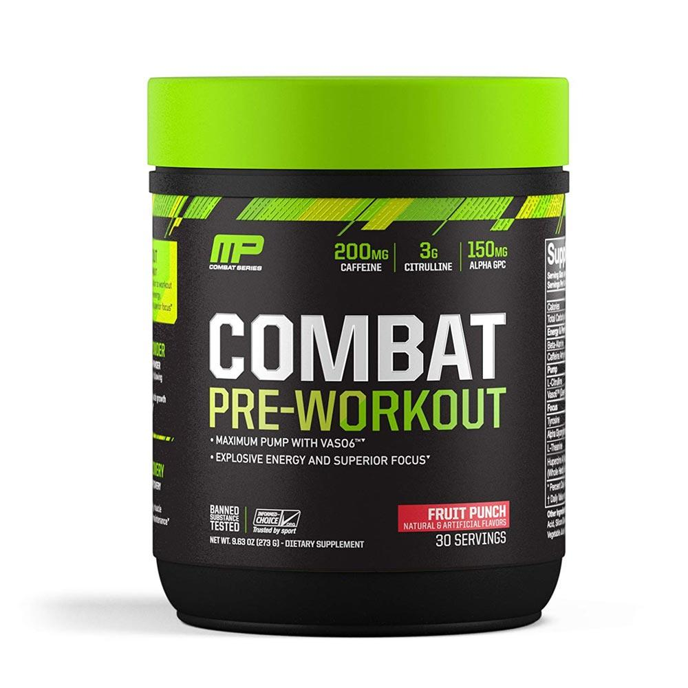 MusclePharm Combat Pre-workout 30 Servings Sports Performance Recovery Muscle Pharm Fruit Punch  (1697252409387)