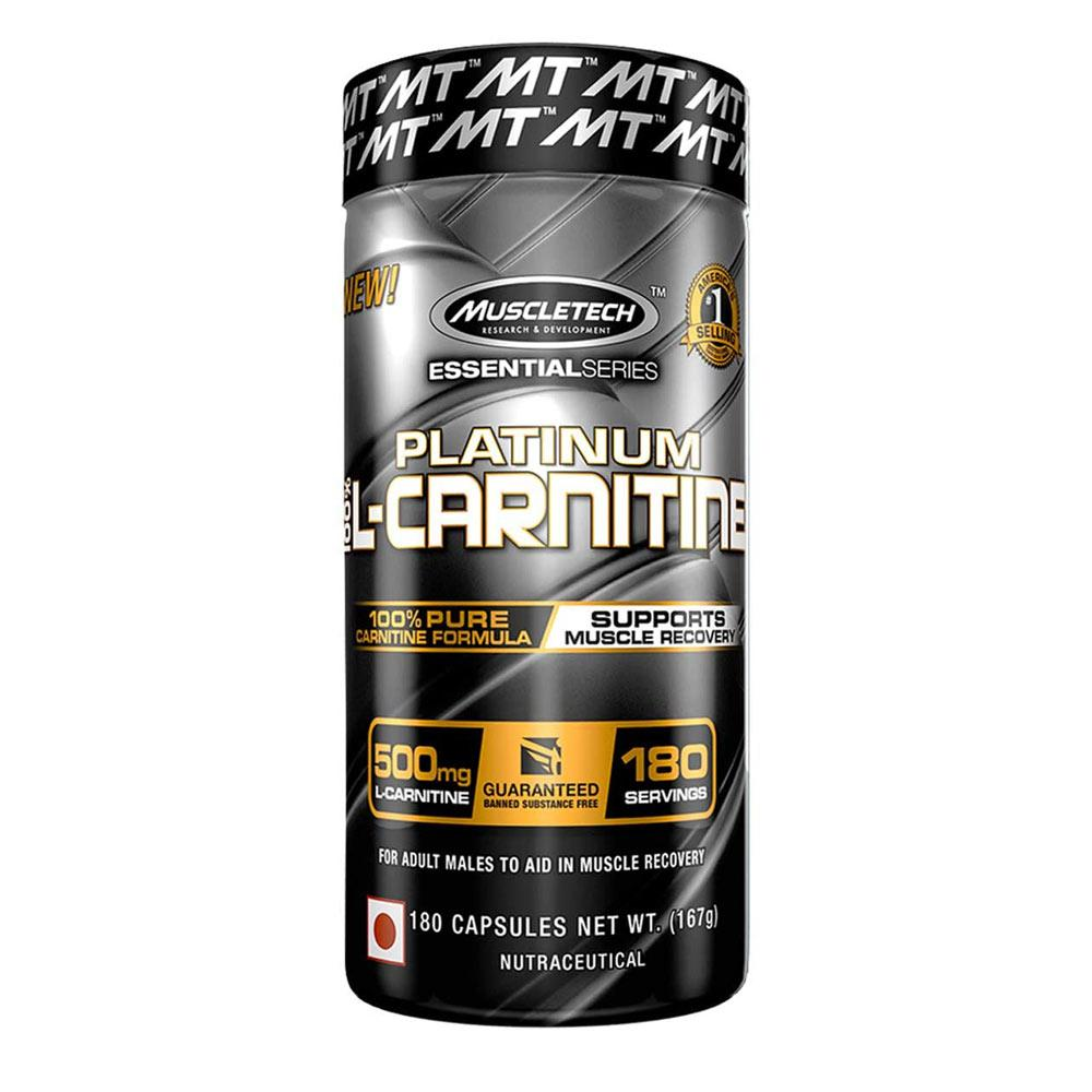 MuscleTech ES Platinum L-Carnitine 180 Caps Fat Burner MuscleTech  (4499415695425)