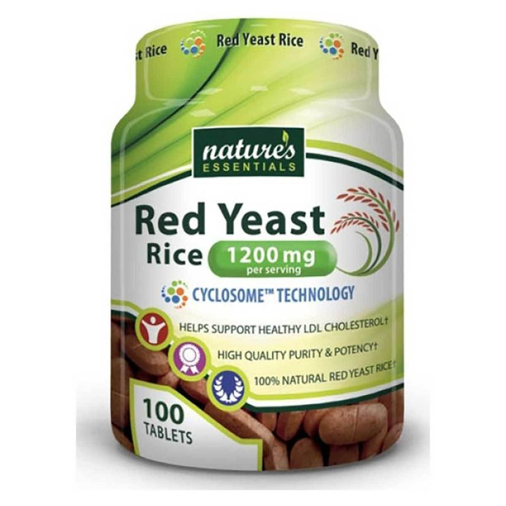Nature's Essentials Red Yeast Rice 1200mg 100 Tablets Antioxidants / CoQ-10 Nature's Essentials  (1059294937131)