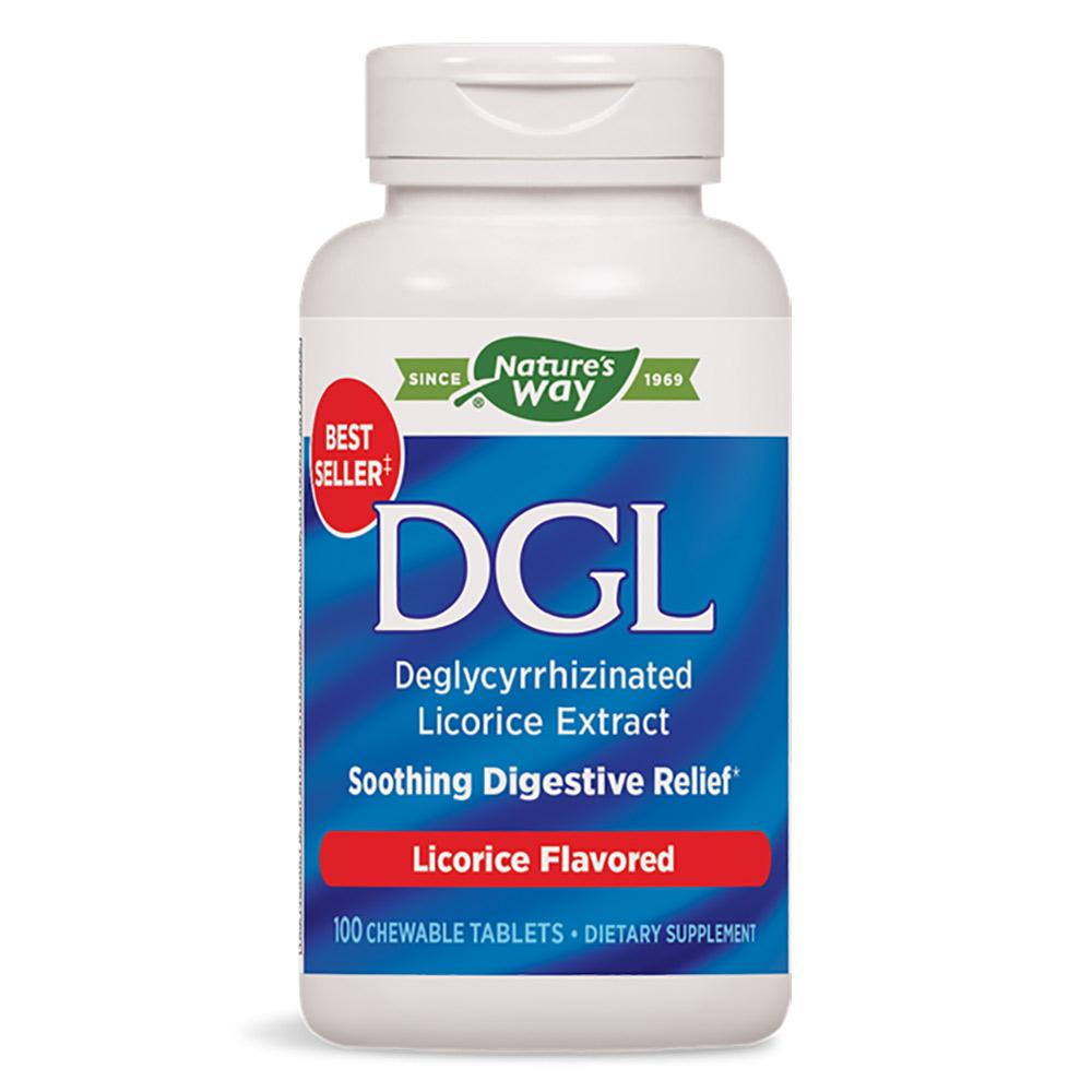 Nature's Way DGL 100 Chewable Tablets Digestive Health / Probiotics Nature's Way  (1057924546603)
