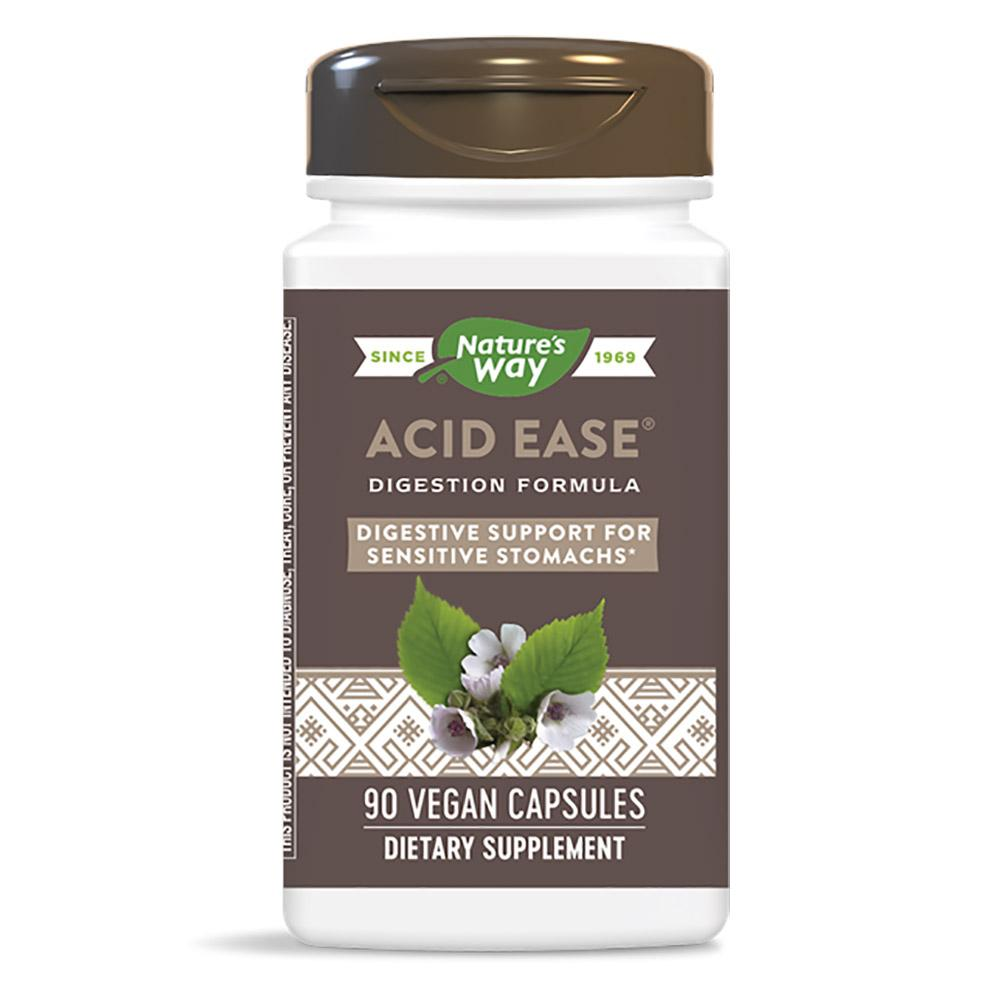 Nature's Way Acid-Ease Digestion Formula 90 Caps (Prev. Enzymatic Therapy) Digestive Health / Probiotics Nature's Way