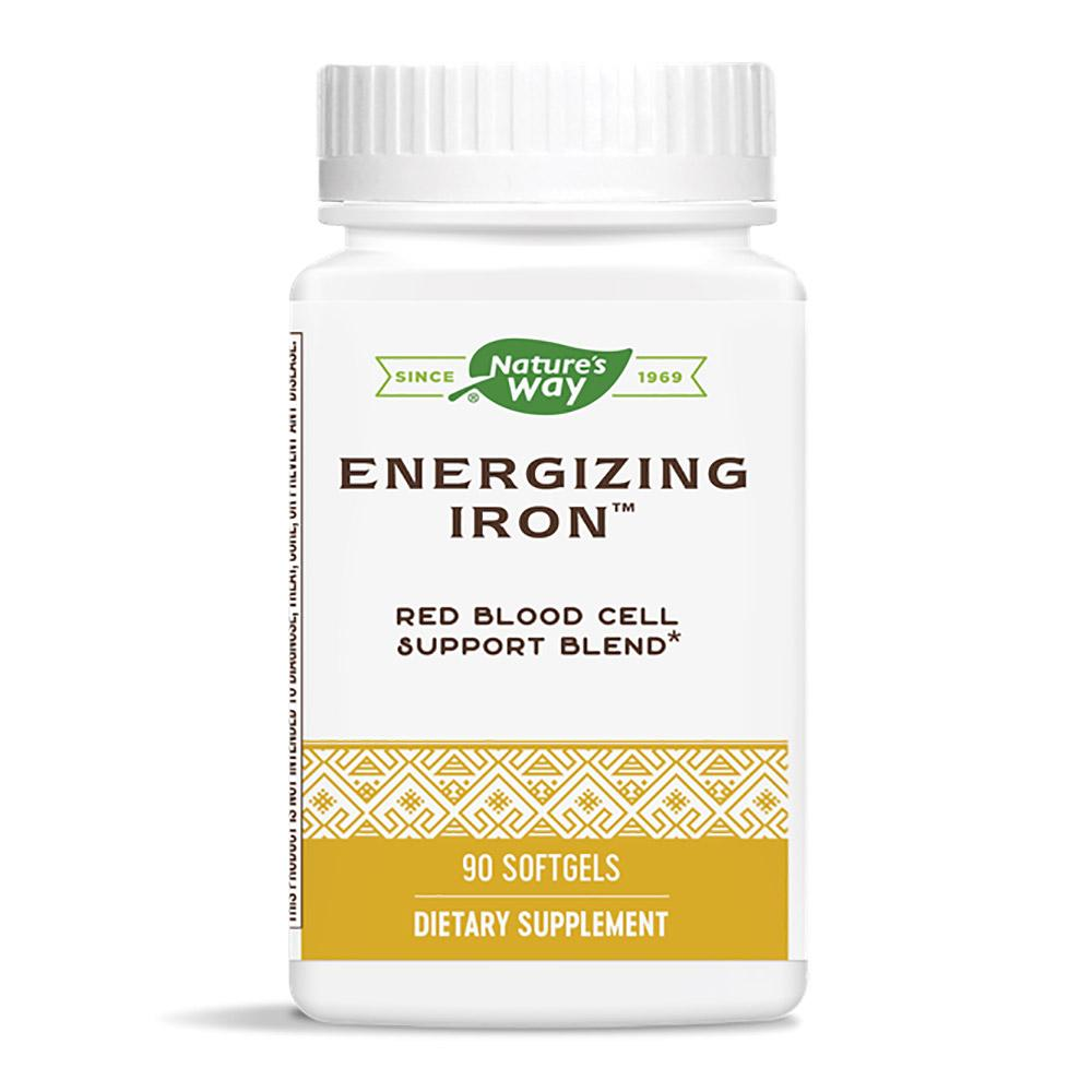 Nature's Way Energizing Iron 90 Softgels (Previously Enzymatic Therapy) Minerals Nature's Way
