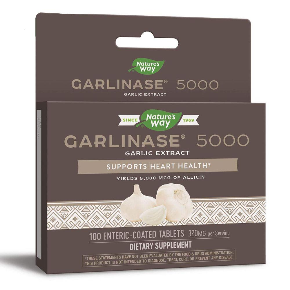 Nature's Way Garlinase 5000 100 Tabs Herbs Nature's Way  (1057923563563)