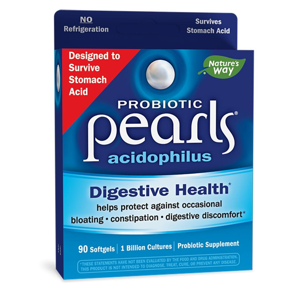 Nature's Way Acidophilus Pearls 90 Pearl Capsules (Prev. Enzymatic Therapy) Digestive Health / Probiotics Nature's Way