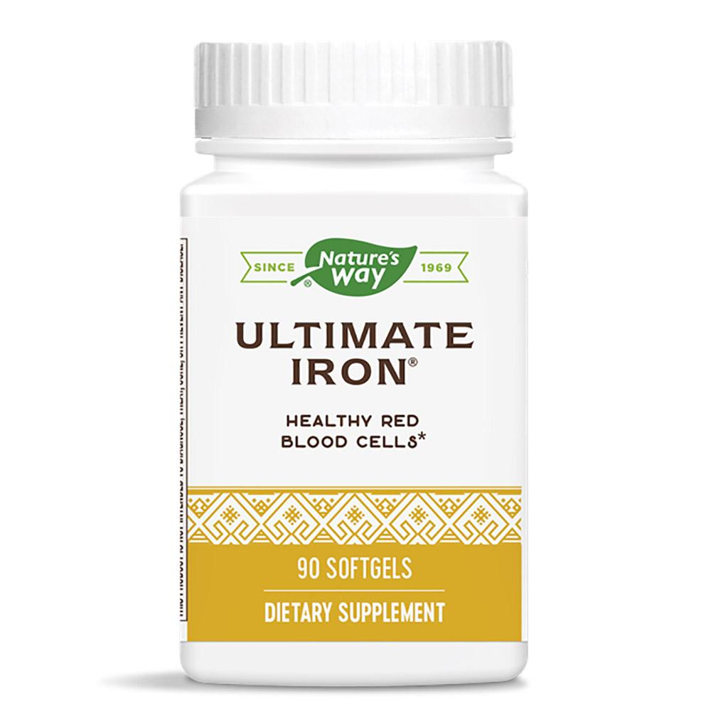 Nature's Way Ultimate Iron 90 Softgels Vitamins & Minerals Nature's Way