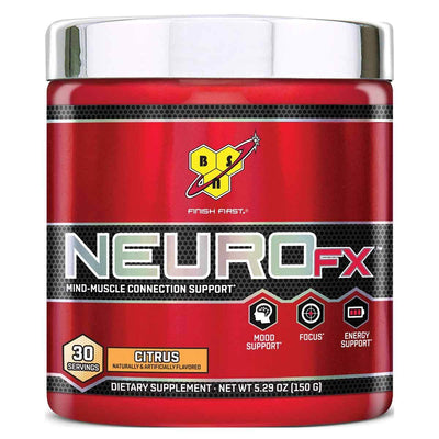 Neuro FX 30 Servings Sports Performance Recovery BSN Citrus  (1535760826411)