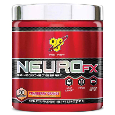 Neuro FX 30 Servings Sports Performance Recovery BSN Cranberry Orange  (1535760826411)