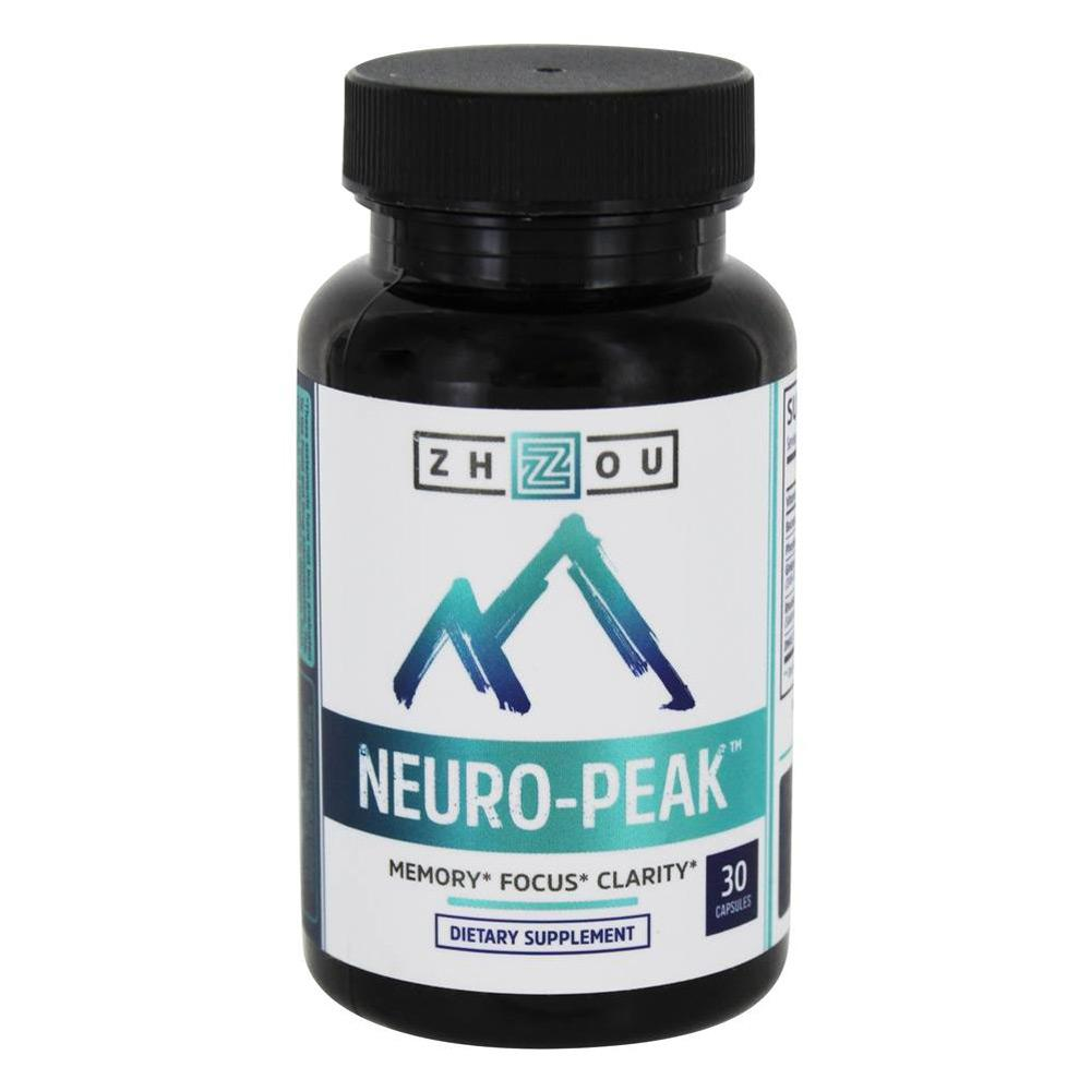 ZHOU Neuro-Peak 30 Capsules | Memory | Focus | Clarity Specialty Health Products ZHOU  (1812370030635)