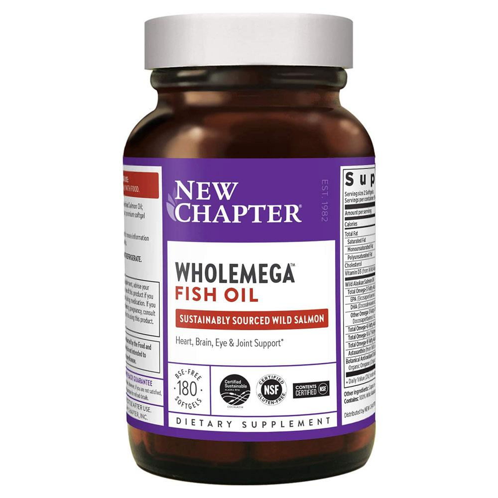 New Chapter WHOLEmega 2000mg 180 Soft Gels Omega Fatty Acids / EFAs New Chapter