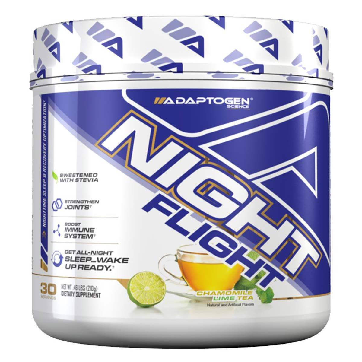 Adaptogen Science Night Flight 30 Servings Sleep Aid Adaptogen Science Chamomile Lime Tea  (1547853660203)