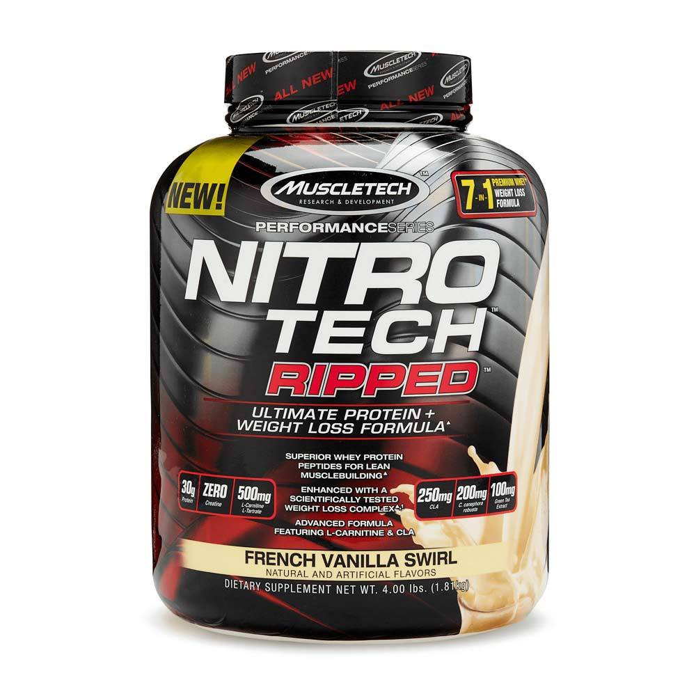 MuscleTech Nitro-Tech Ripped 4lbs Protein Powders MuscleTech French Vanilla Swirl  (1855857950763)