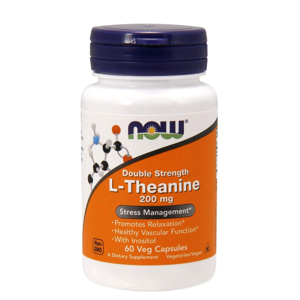 Now Foods L-Theanine 200mg 60 Capsules Now Foods  (1059167862827)