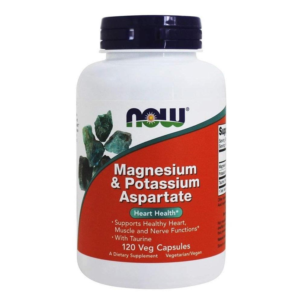 Now Foods Mag / Potassium Aspartate 250mg 120 Capsules Other Supplements Now Foods  (1059127427115)