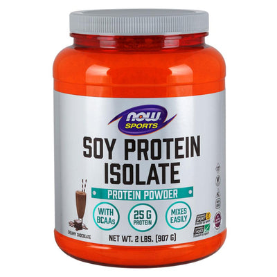 Now Foods Soy Protein Isolate 2 Lbs Protein Now Foods Chocolate  (1058844803115)