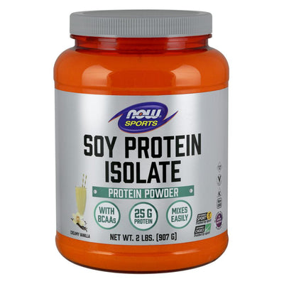 Now Foods Soy Protein Isolate 2 Lbs Protein Now Foods Vanilla  (1058844803115)