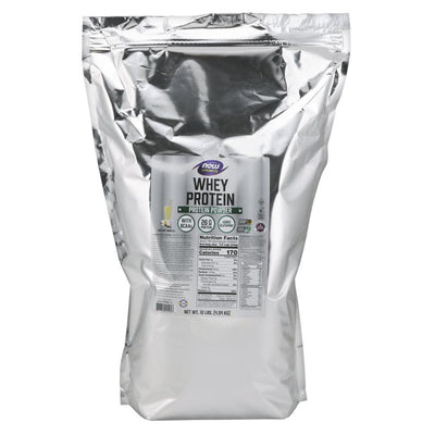 Now Foods Whey Protein 10 Lbs Protein Now Foods Natural Vanilla  (1058724839467)