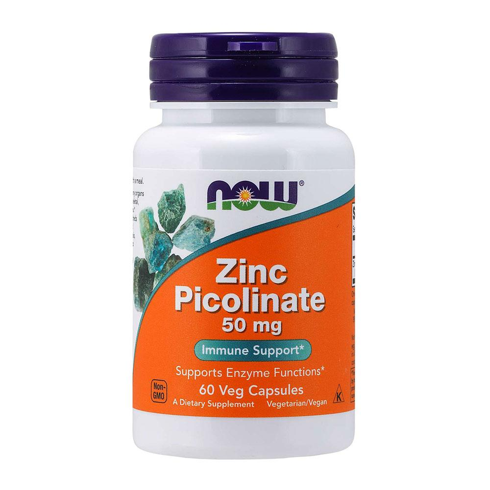 Now Foods Zinc Picolinate 50mg 60 Caps Minerals Now Foods  (1059163930667)