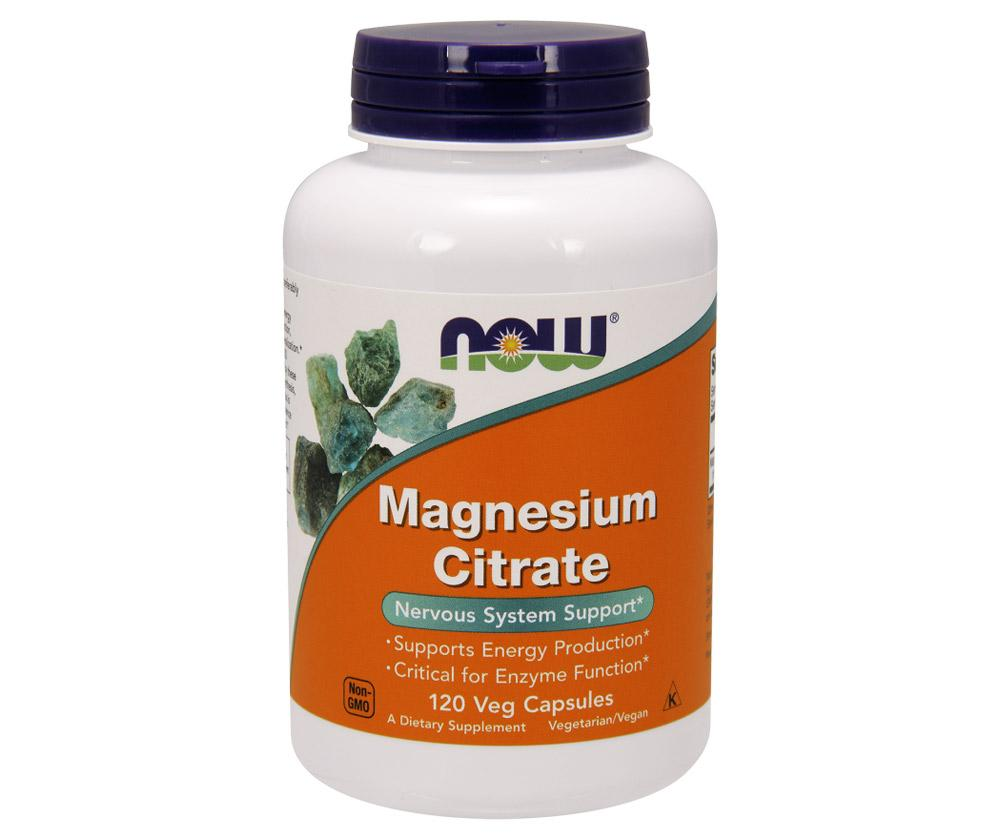 Now Foods Magnesium Citrate 120 Vege Caps Digestive Health / Probiotics Now Foods  (1058822946859)