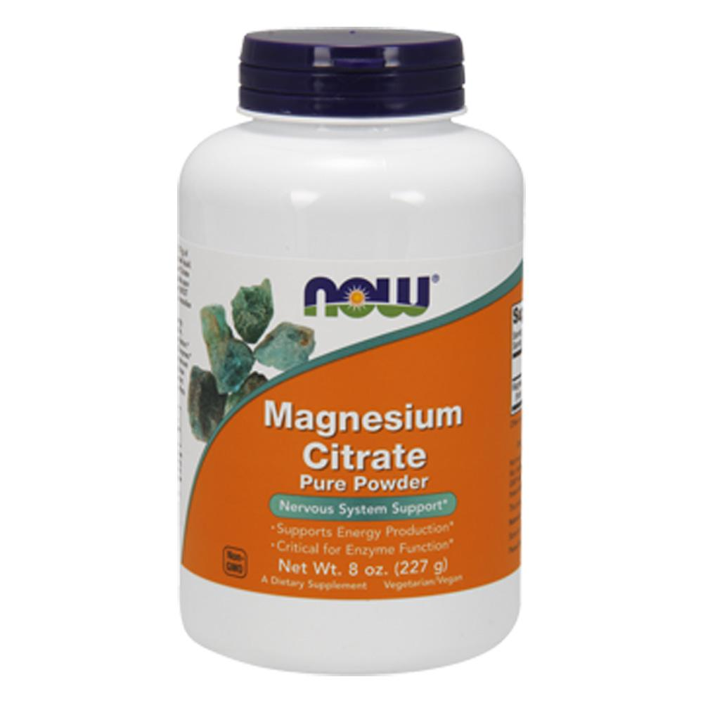 Now Foods Magnesium Citrate Powder 8 Oz Minerals Now Foods  (1059109568555)