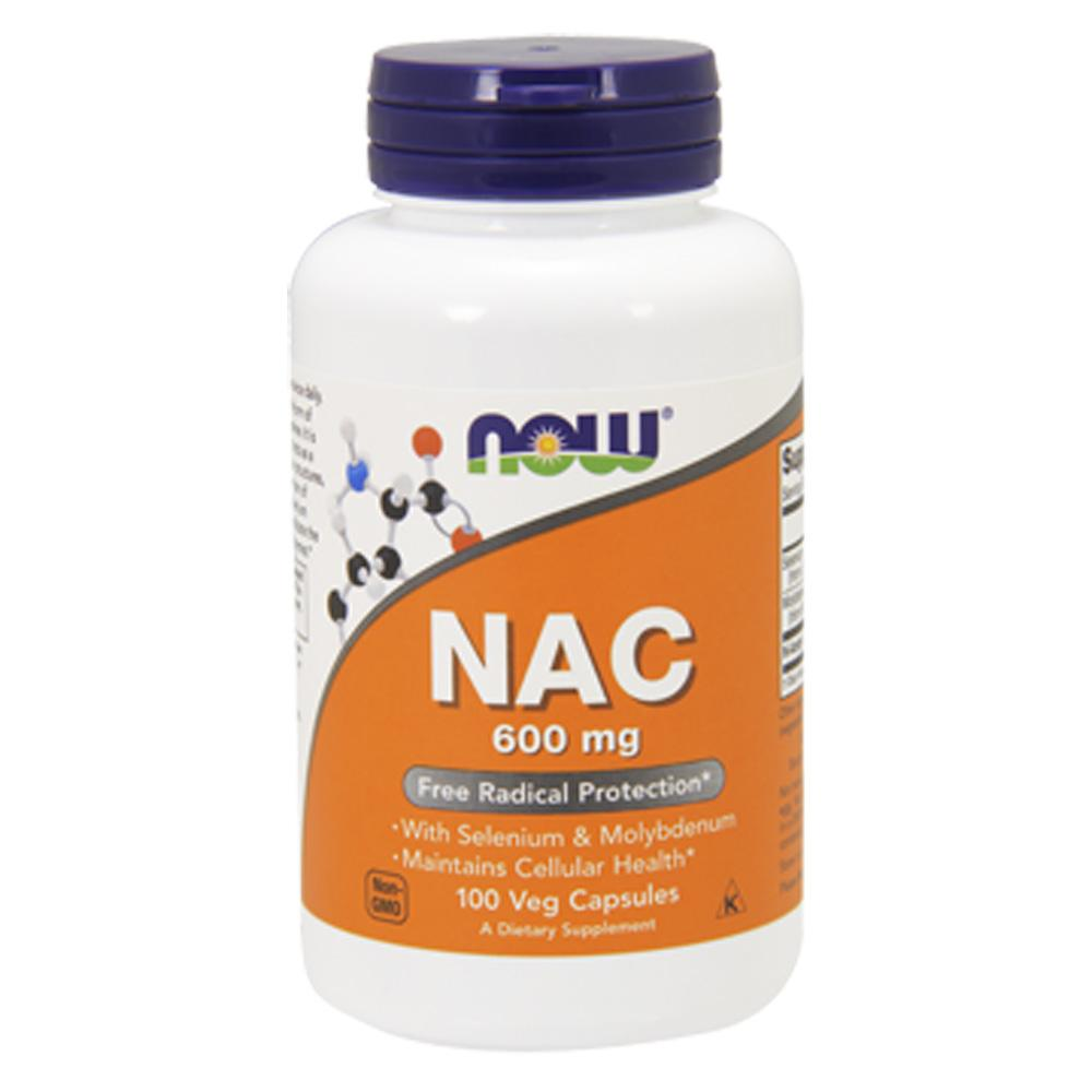 Now Foods NAC 600 Mg 100 Vegetable Capsules Now Foods  (1059132899371)
