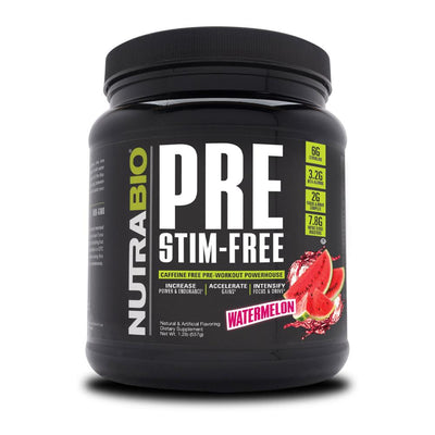 NutraBio Pre Stim-Free Pre-Workout 20/Servings Nitric Oxide NutraBio Watermelon  (4371467796545)