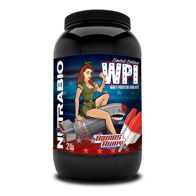 NutraBio 100% Whey Protein Isolate 2lb Protein Powders NutraBio Bombs Away  (4371455672385)