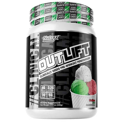 Nutrex Research Outlift 20 Servings Pre-Workouts Nutrex Research Italian Ice  (4294748504129)