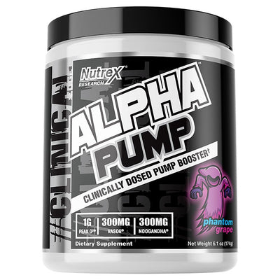 Nutrex Alpha Pump 20 Servings Pre-Workouts Nutrex Research Phantom Grape  (4294748143681)