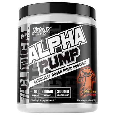 Nutrex Alpha Pump 20 Servings Pre-Workouts Nutrex Research Phantom Orange  (4294748143681)