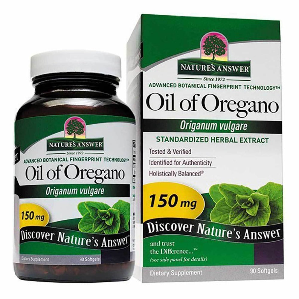 Nature's Answer Oil of Oregano 150mg 90 Softgels Personal Care Nature's Answer  (1059085582379)