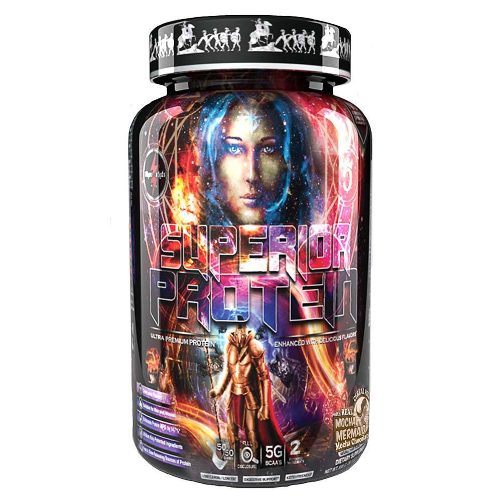 Superior Protein 25 Servings Protein Powders Olympus Labs Mocha Mermaid  (1569930149931)
