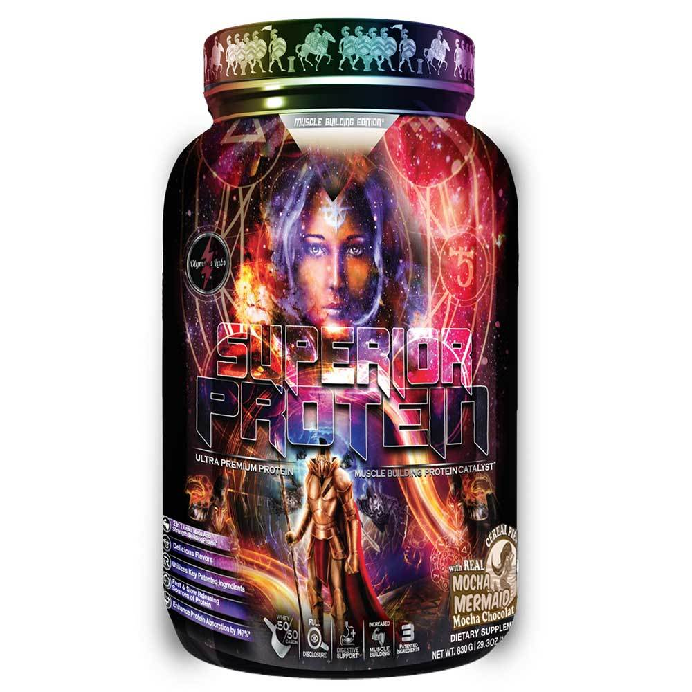 Superior Protein Muscle Building Edition 25 Servings Protein Powders Olympus Labs Mocha Mermaid  (1569834172459)