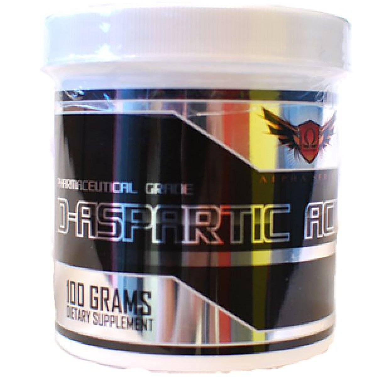 Omega Sports D-Aspartic Acid 100 Grams Testosterone Boosters Omega Sports  (1058563260459)