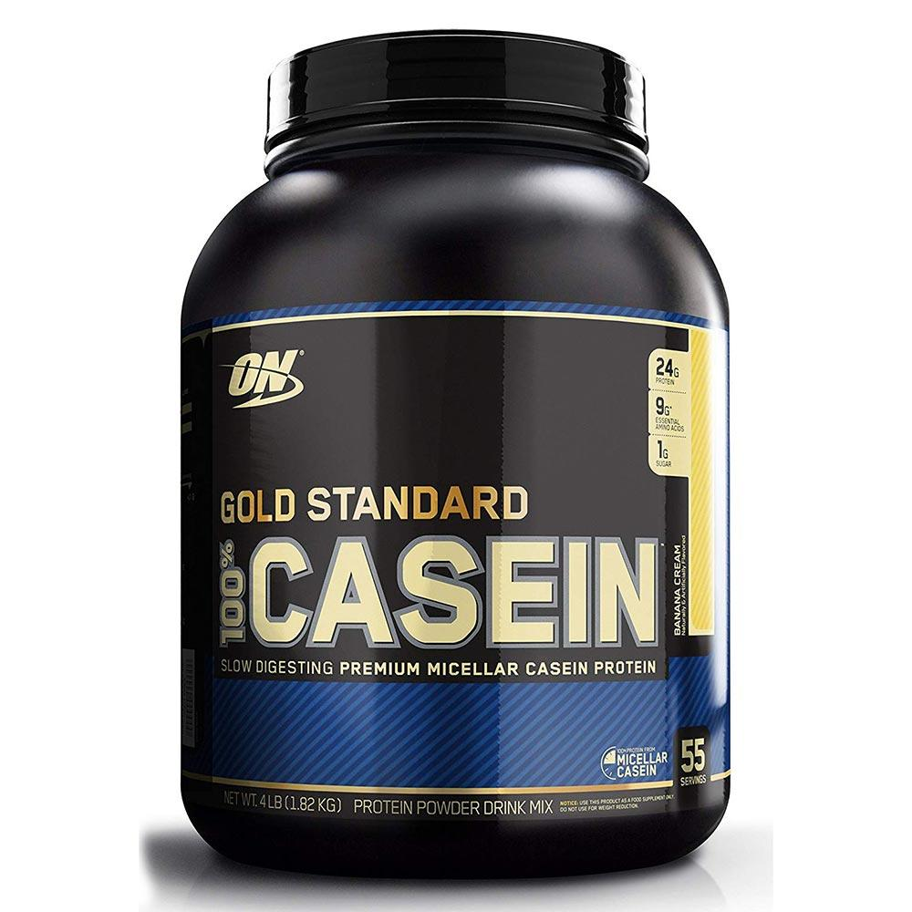 Optimum Nutrition 100% Casein 4 Lbs Protein Optimum Nutrition Banana Cream  (1058078031915)