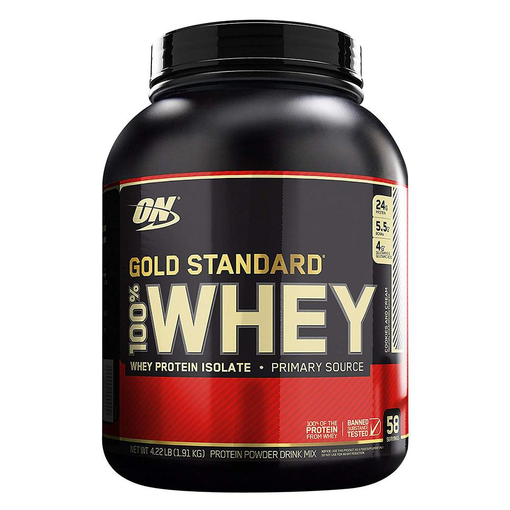 Optimum Nutrition 100% Whey Protein Gold 4 lb Protein Powders Optimum Nutrition Cookies N Cream  (1771722539051)