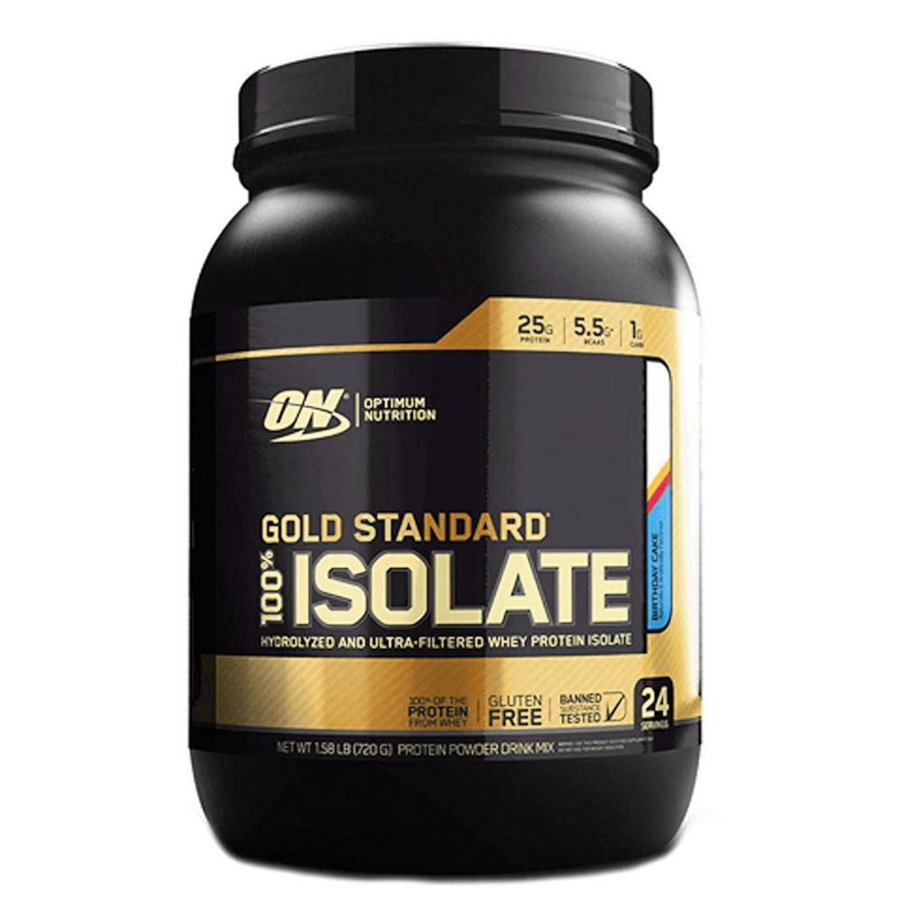 Optimum Nutrition Gold 100% Isolate 24 Servings Protein Powders Optimum Nutrition Birthday Cake  (1730632122411)