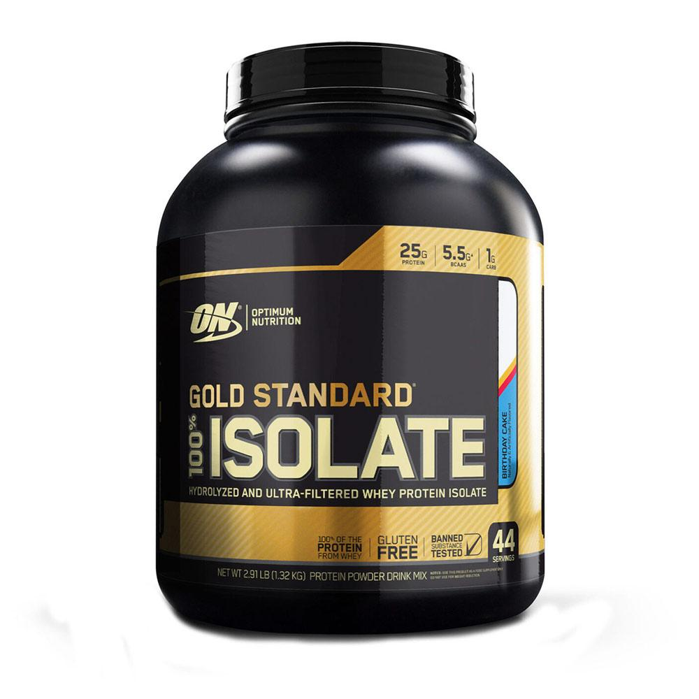 Optimum Nutrition Gold 100% Isolate 44 Servings Protein Powders Optimum Nutrition Birthday Cake  (1730636218411)