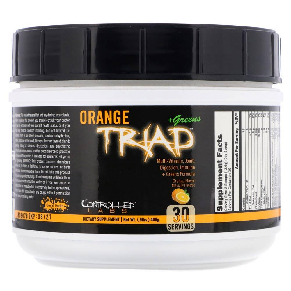 Controlled Labs Orange Triad + Greens 30 Servings Vitamins & Minerals Controlled Labs  (4336648388673)