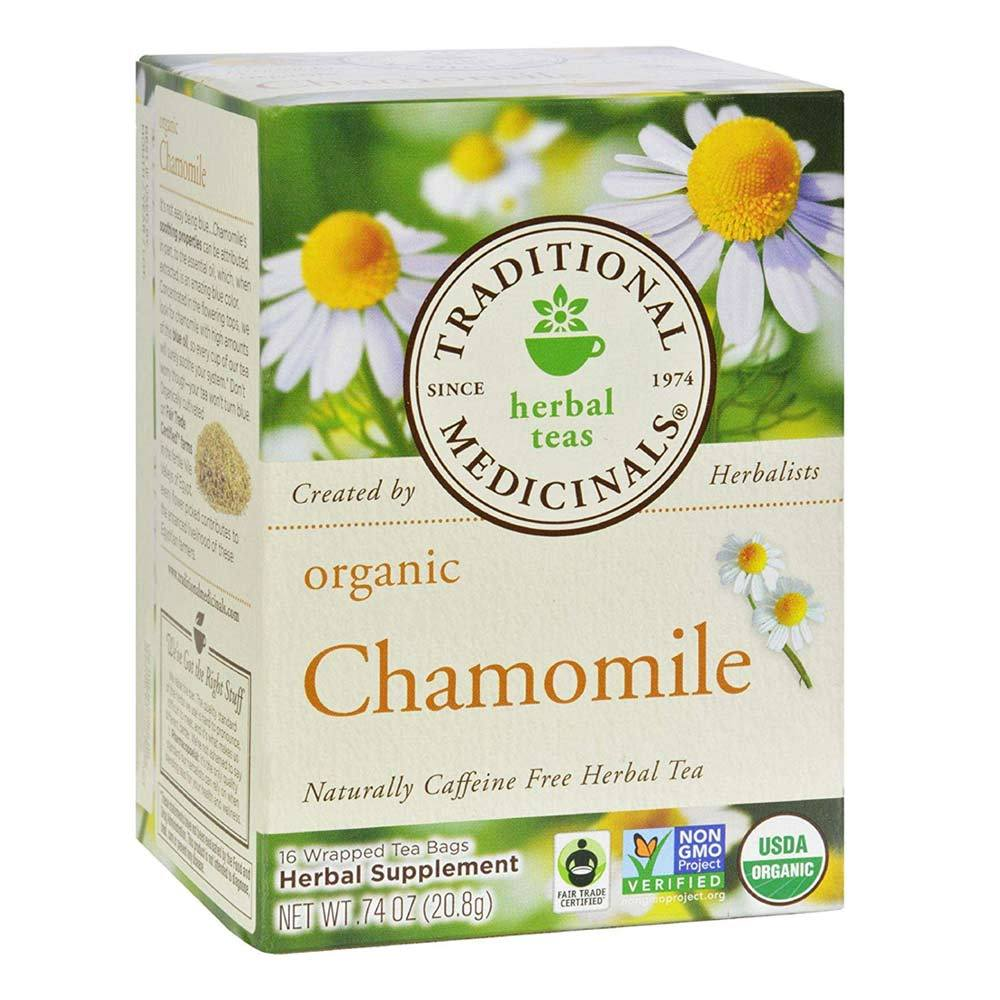 Traditional Medicinals Organic Chamomile Tea 16 Bags | Herbal Tea Teas Traditional Medicinals  (1780170260523)