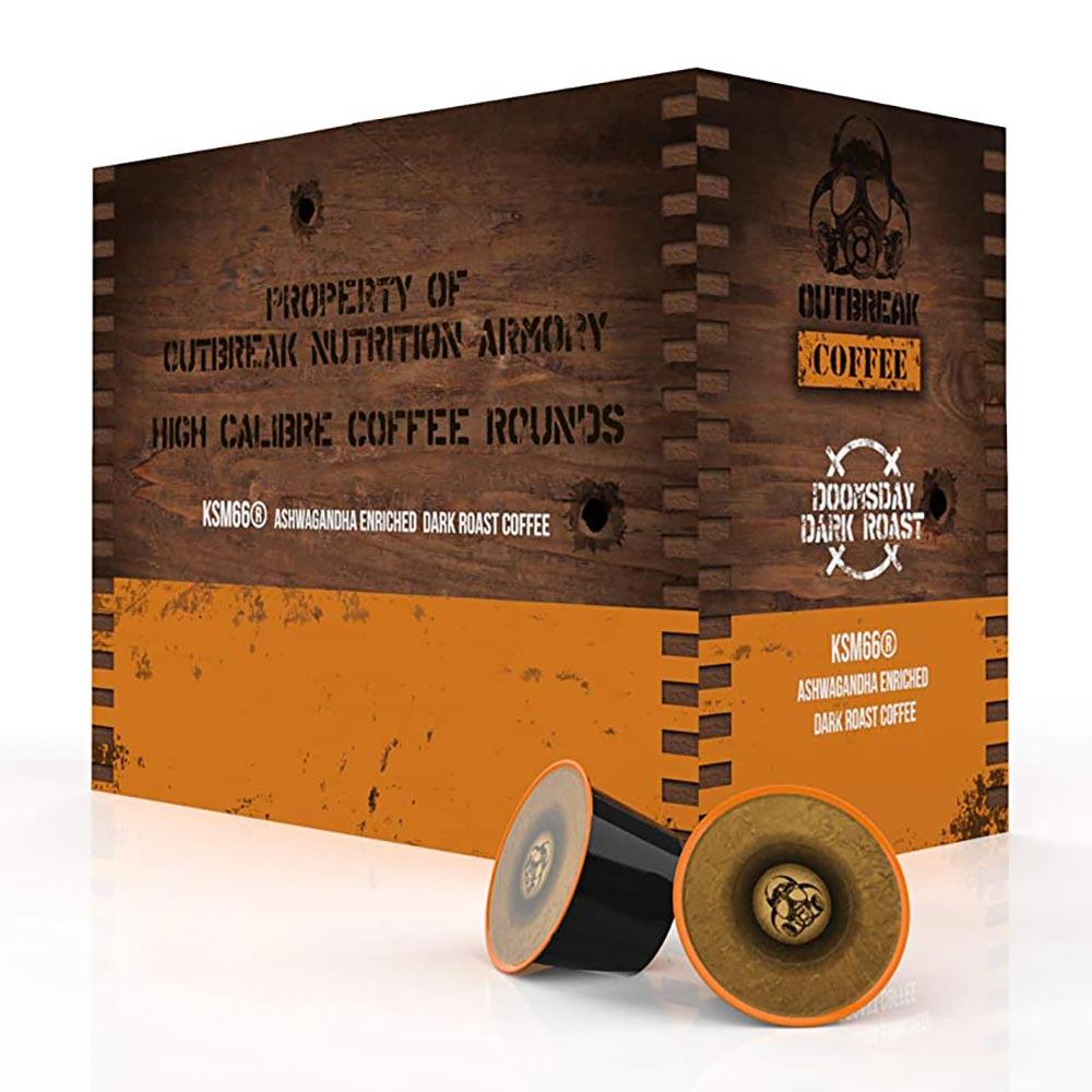 Outbreak Coffee Doomsday Dark Roast 24 K Cups Drinks Outbreak  (4549762056257)